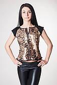 ENSOUL Блуза RLT72304901 Венеция (42, питон, черный, масло)