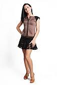 ENSOUL Блуза RLT72301301 Венеция (44, коричневый, черный)