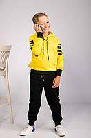 Детский спортивный костюм желтый с черным Off-White топ-реплика