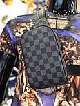 Мужская сумка мессенджер бананка Lou1s Vuitton черная. Живое фото (Реплика ААА+), фото 6