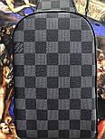 Мужская сумка мессенджер бананка Lou1s Vuitton черная. Живое фото (Реплика ААА+), фото 4