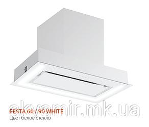 Вытяжка для кухни Fabiano Festa 60 White Glass(белое стекло) периметрическое втягивание