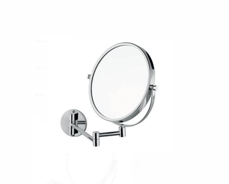 Зеркало косметическое увеличительное, нержавеющая сталь