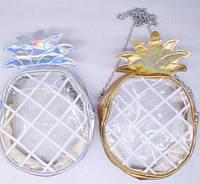 Сумка детская прозрачная Ананас (золото, серебро) 536-1301