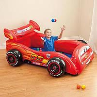 Детский надувной игровой центр машина Тачки Intex 48668