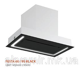 Вытяжка для кухни Fabiano Festa 60 Black Glass(черное стекло) периметрическое втягивание