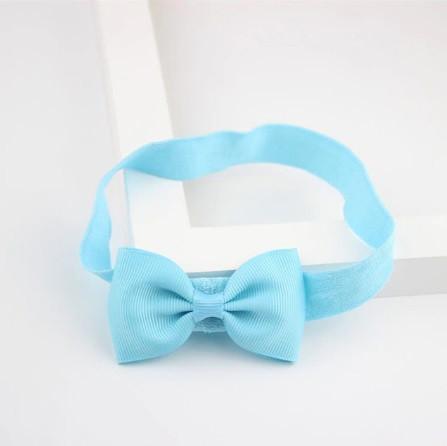 Детская голубая повязочка на голову