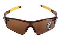 Солнцезащитные спортивные очки Robesbon (велоочки) коричневые