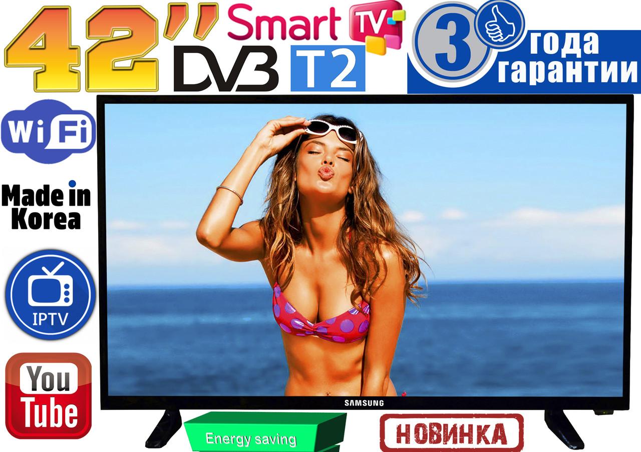 "НОВЫЕ телевизоры Samsung SmartTV Slim 42"" 4K 3840x2160, 8 GB, LED, IPTV, Android, T2, WIFI, USB, КОРЕЯ"