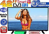 "НОВЫЕ телевизоры Samsung SmartTV Slim 42"" 4K 3840x2160,LED, IPTV, Android, T2, WIFI, USB, КОРЕЯ"