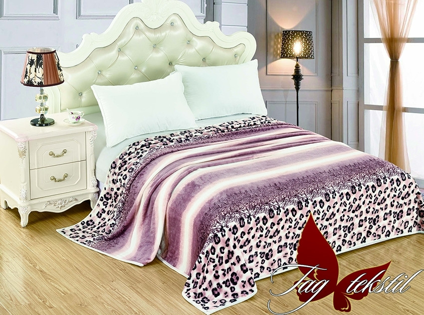 Плед покрывало 160х220 велсофт Саванна на кровать, диван