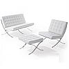 Диван Барселона 3 местный, кресло, оттоманка, цвет белый , черный, фото 3
