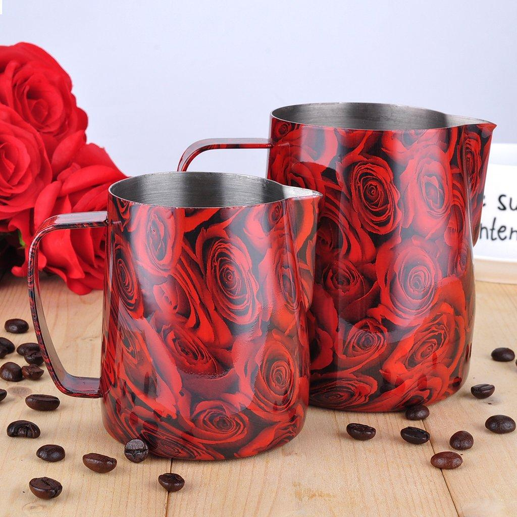 "Питчер для молока (молочник, джаг) Barista Space ""Red Rose"" 350 мл"