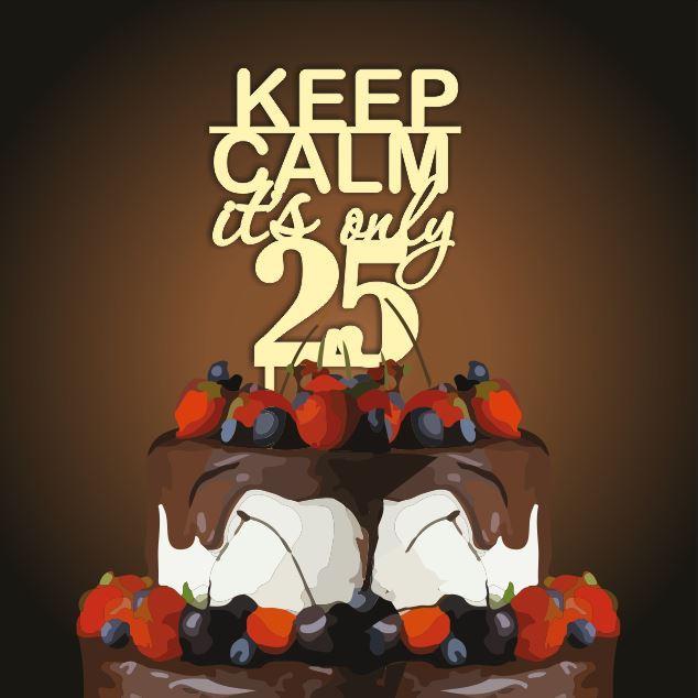 Топпер  keep kalm it s only 25