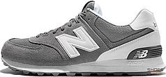 Мужские кроссовки New Balance ML574-CN Grey/White, Нью беланс 574