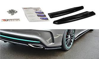 Боковые диффузоры заднего бампера юбка элерон накладки тюнинг Mercedes CLA C117 AMG рестайл