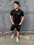 Under Armour | Мужской летний спортивный костюм, комплект мужские шорты и мужская футболка поло | Андер Армор, фото 4
