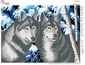 Вышивка бисером Пара волков №08