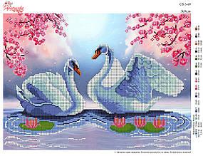 Вышивка бисером Лебеди №09