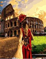 """Картина по номерам """" Следуй за мной. Рим""""  (40х50 см) Brushme"""