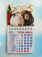 """Календарь магнитный отрывной сувенирный на 2020 г.  """"Год Крысы"""" - Арт 6"""