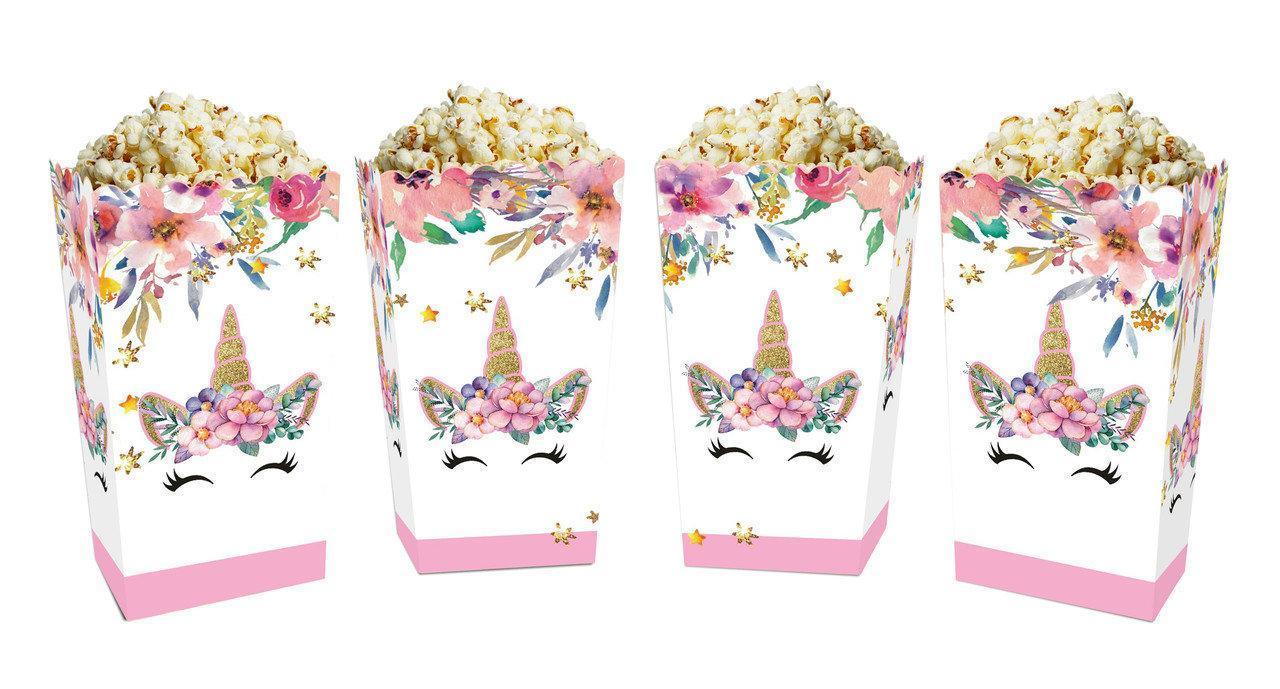 """Коробочки для сладостей """"Единорог в цветах""""   5 штук"""