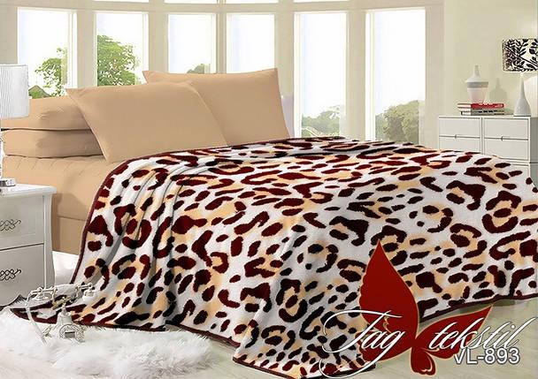 Плед покрывало 160х220 велсофт Леопард на кровать, диван, фото 2