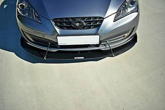 Диффузор переднего бампера губа элерон накладки тюнинг Hyundai Genesis Coupe MK1