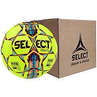 Мяч футбольный SELECT Brillant Super FIFA TB желто-красный, размер 5