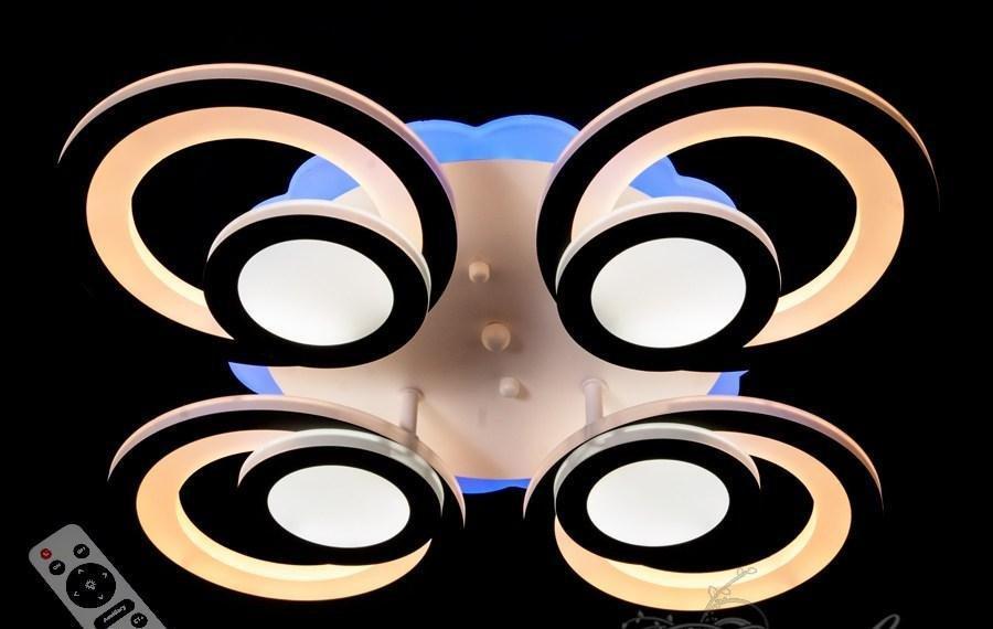 Сверхъяркая светодиодная люстра с цветной подсветкой 100W