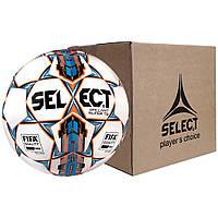 Мяч футбольный SELECT Brillant Super FIFA TB бело-синий, размер 5