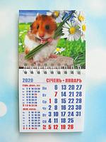 """Календарь магнитный отрывной сувенирный на 2020 г.  """"Год Крысы"""" - Арт 1"""