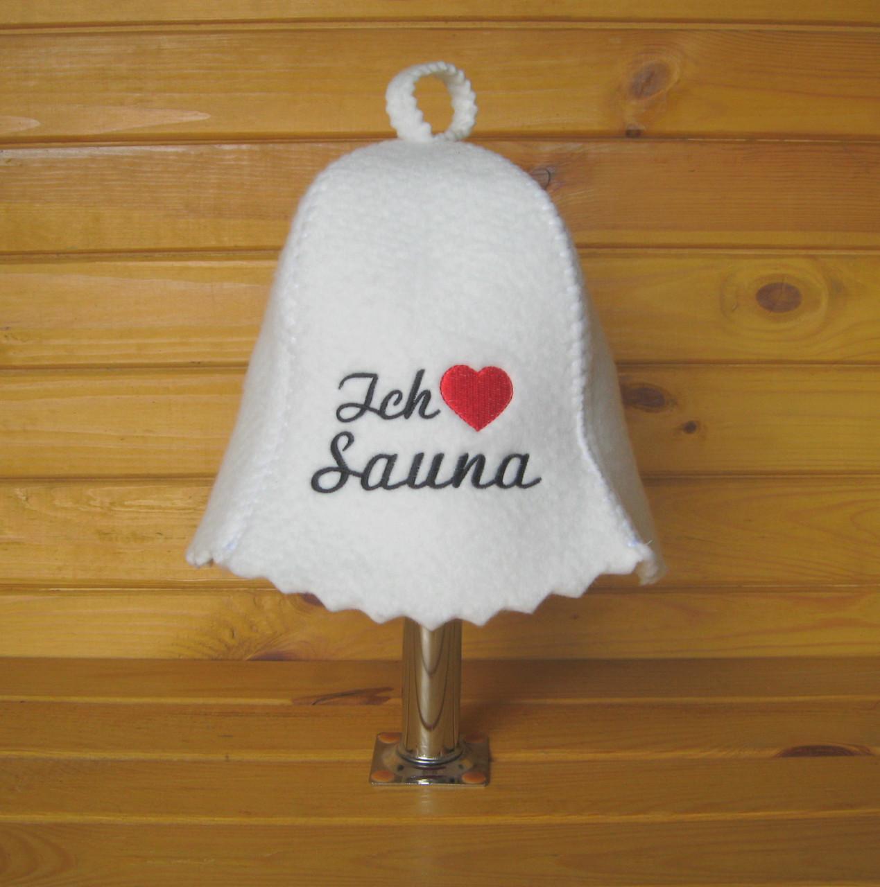 """Шапка для бани и сауны G """"Ich liebe Sauna"""""""