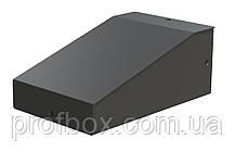 Корпус металевий з похилою панеллю MB-8 (Ш90 Г125 В60) чорний, RAL9005(Black textured)