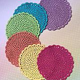Комплект салфеток для сервировки стола - 6шт. (диаметр 13см), фото 2