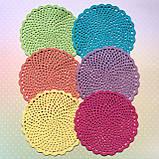 Комплект салфеток для сервировки стола - 6шт. (диаметр 13см), фото 5