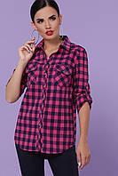 Жіноча блуза з бенгаліну в клітину, фото 1