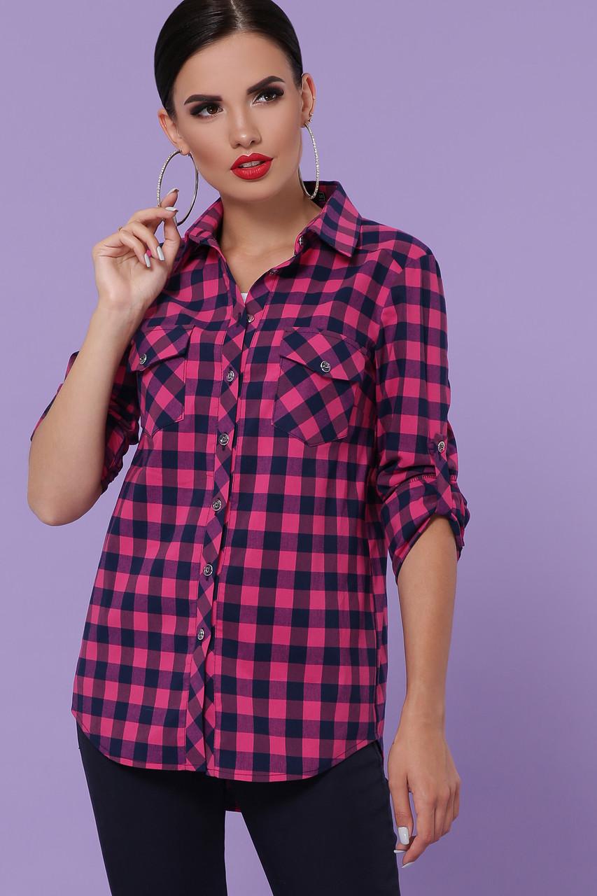 Жіноча блуза з бенгаліну в клітину