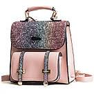 Рюкзак портфель с блестящим глиттером розовый HLDAFA (AV102), фото 2