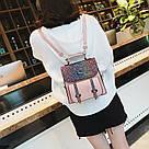 Рюкзак портфель с блестящим глиттером розовый HLDAFA (AV102), фото 3