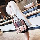Рюкзак портфель с блестящим глиттером розовый HLDAFA (AV102), фото 5