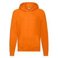 Кофта с капюшоном мужская яркая оранжевая под вышивку