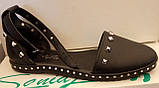 Босоножки женские на низком ходу из натуральной кожи от производителя модель ЛИН113-3, фото 4