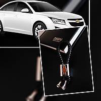 Плетений шкіряний брелок для авто Chevrolet  кожаный для шевроле Брелок для автомобильных ключей