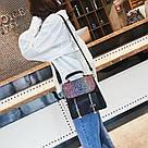 Рюкзак портфель с блестящим глиттером черный HLDAFA (AV102), фото 3