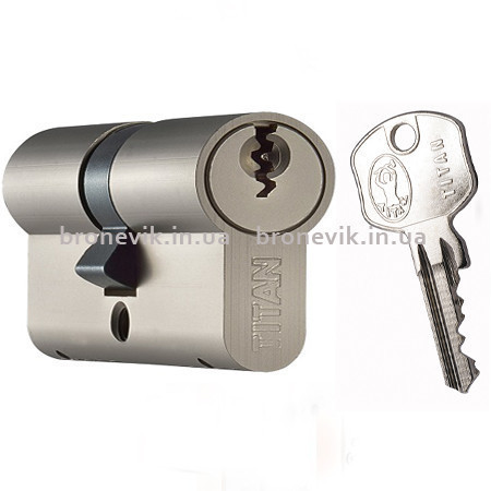 Цилиндр Titan K1 ML 80 (30х50) никель ключ/ключ