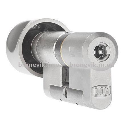 Цилиндр DOM Diamant K6 99 мм 42/57C NI ключ/поворотник