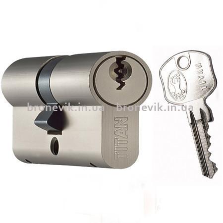Цилиндр Titan K1 ML 100 (30х70) никель ключ/ключ