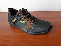 Туфли мужские черные с коричневым прошитые удобные ( код 811 ), фото 1