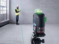 Линейный лазер Bosch GLL 3-80 CG Professional + BM 1 +12 V + L-Boxx 360° зеленый луч, фото 2